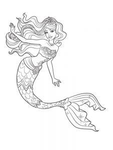 coloring pages mermaid 011