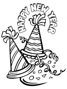 coloring pages new year