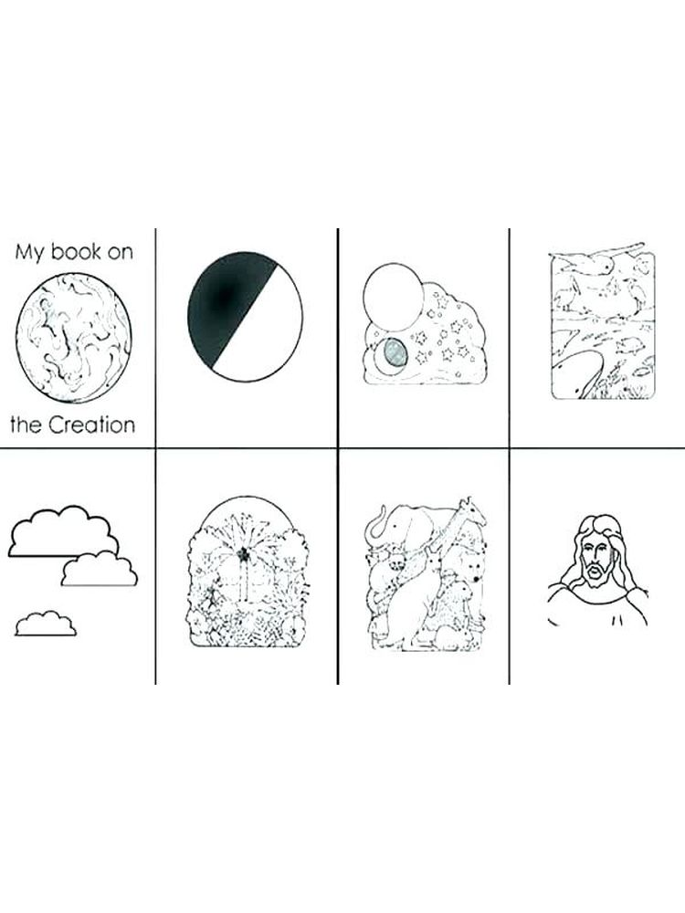 coloring pages of 7 days of creation