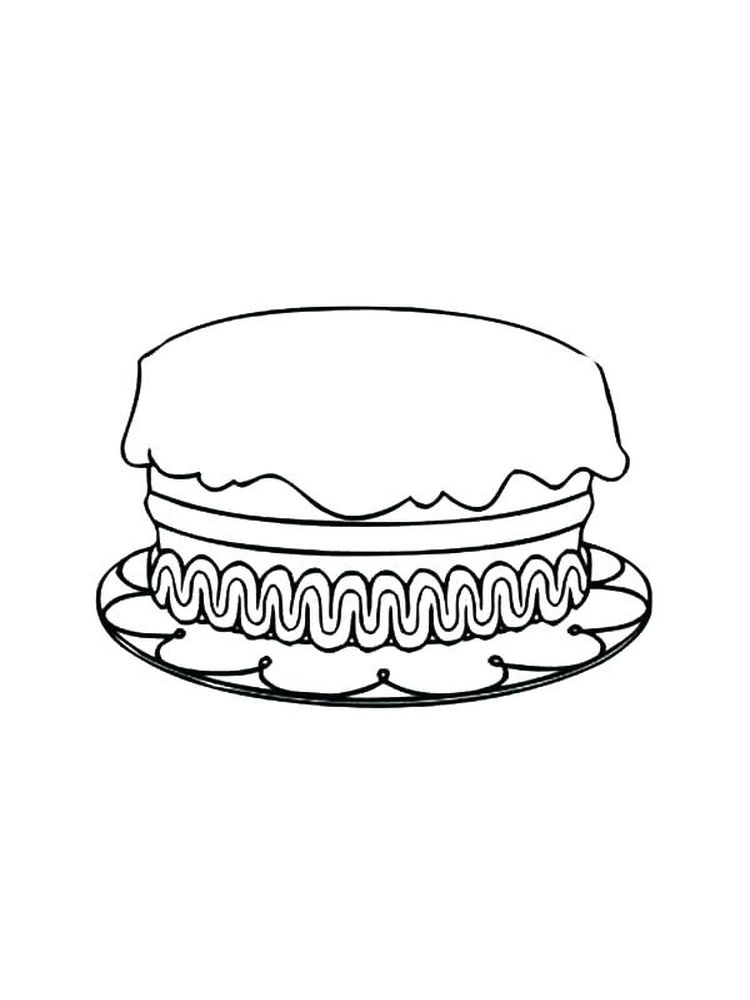 coloring pages of a birthday cake