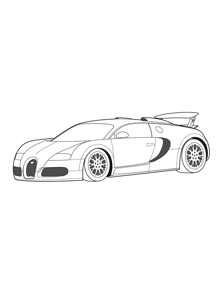 coloring pages of a bugatti