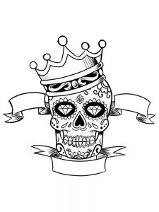 coloring pages of a crown