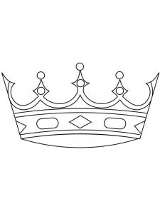 coloring pages of a crown to print