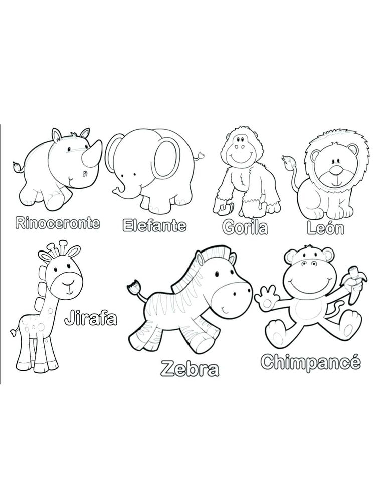 coloring pages of animals to print for free