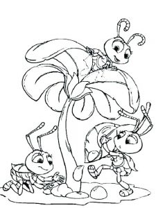 coloring pages of ant printable