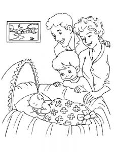 coloring pages of baby free