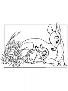 coloring pages of bambi