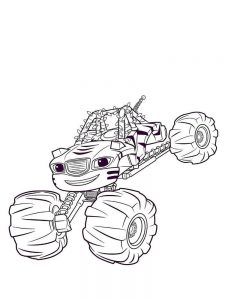 coloring pages of blaze and the monster machines