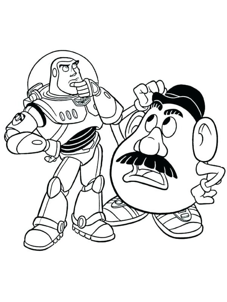 coloring pages of buzz lightyear