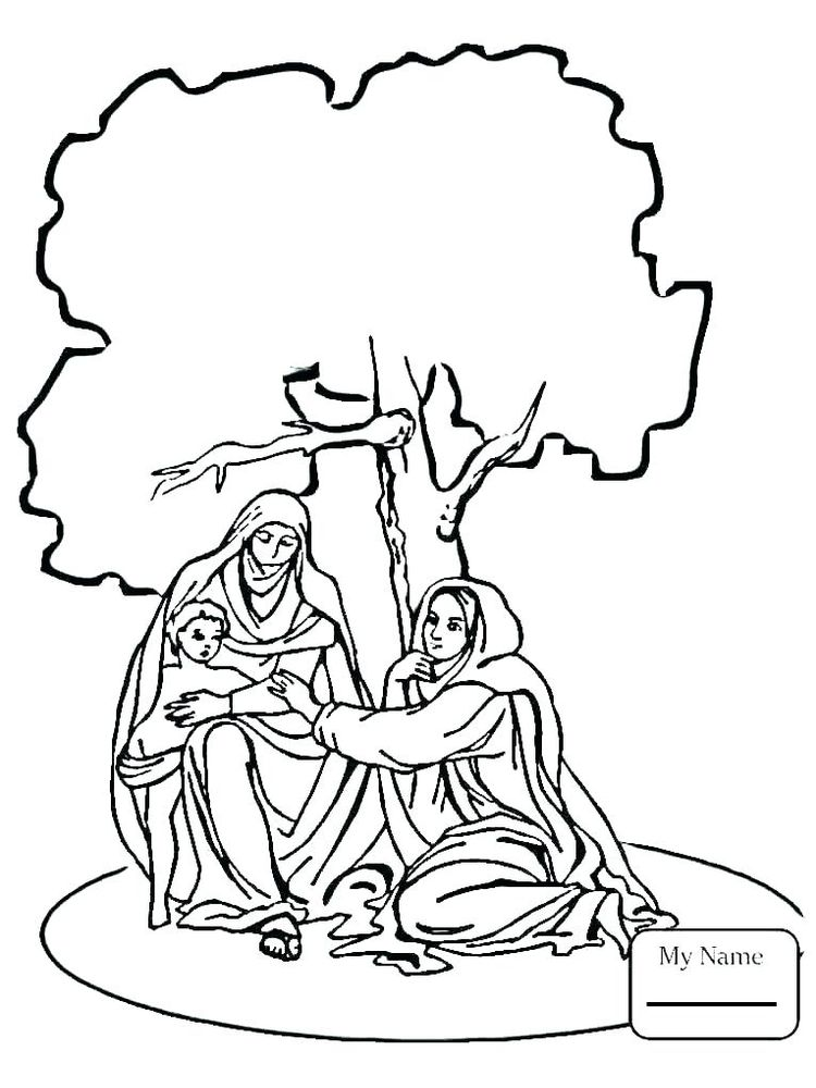 coloring pages of nativity scene