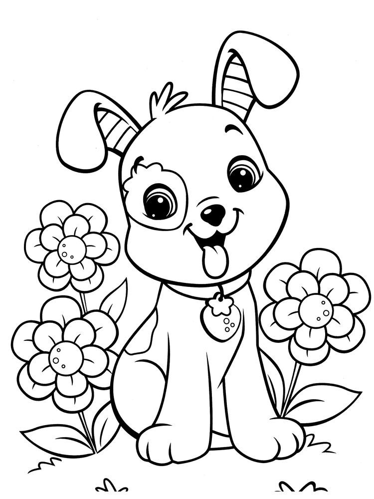 coloring pages of pets printable