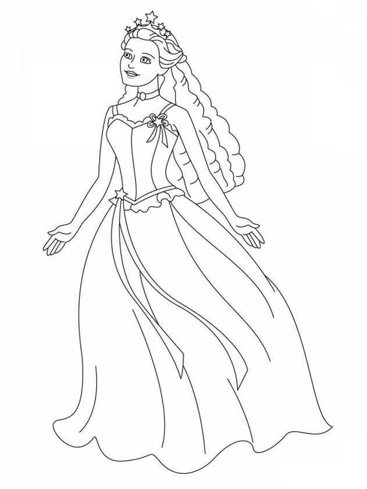 coloring pages of princesses free