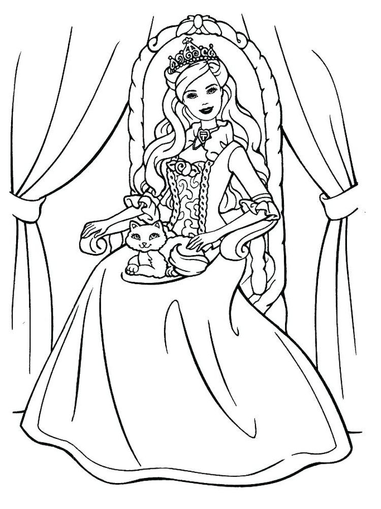 coloring pages of princesses pdf