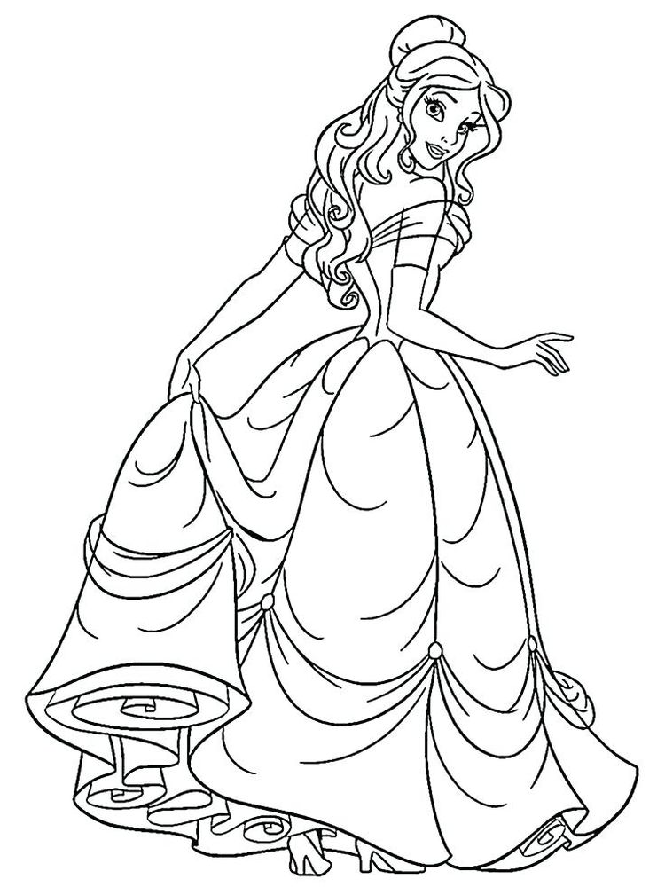 coloring pages of princesses pict