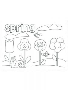 coloring pages of spring flowers image