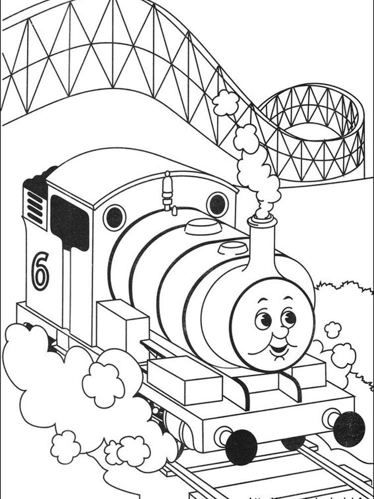coloring pages of thomas the train