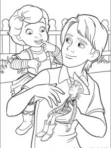 coloring pages of woody from toy story