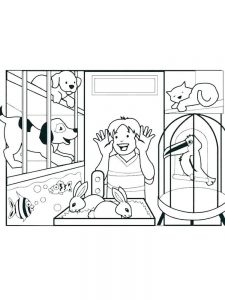 coloring pages pets