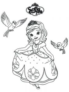 coloring pages princess sofia free