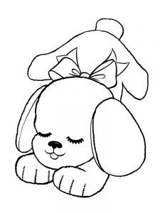 coloring pages puppy 002