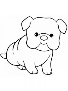 coloring pages puppy 011