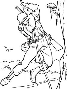 coloring pages soldier free