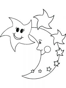 coloring pages stars and planets