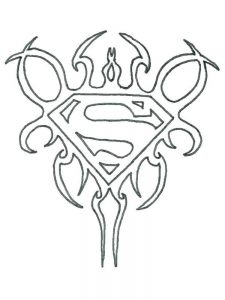 coloring pages superman logo