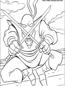coloring pages teenage mutant ninja turtles