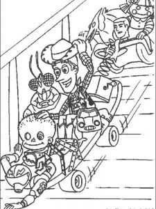 coloring pages toy story woody