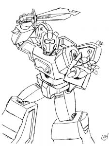 coloring pages transformers 009
