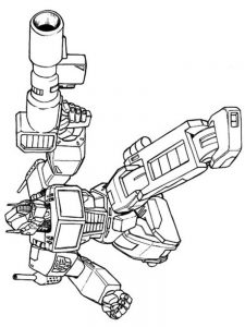 coloring pages transformers optimus prime