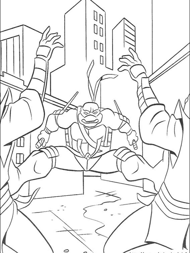 coloring pages turtles ninja