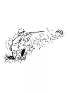 coloring pages woods and hunting print
