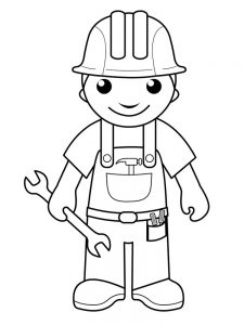 community helper hats coloring pages