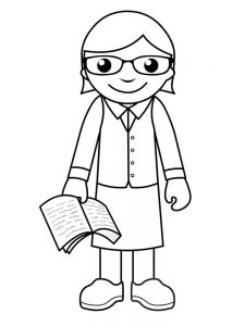 community helpers teacher coloring page