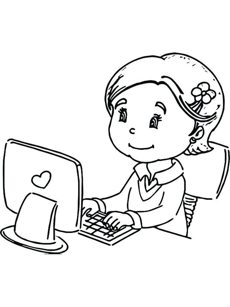 computer coloring pages free