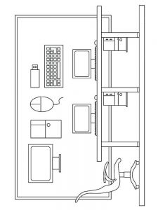 computer coloring pages new
