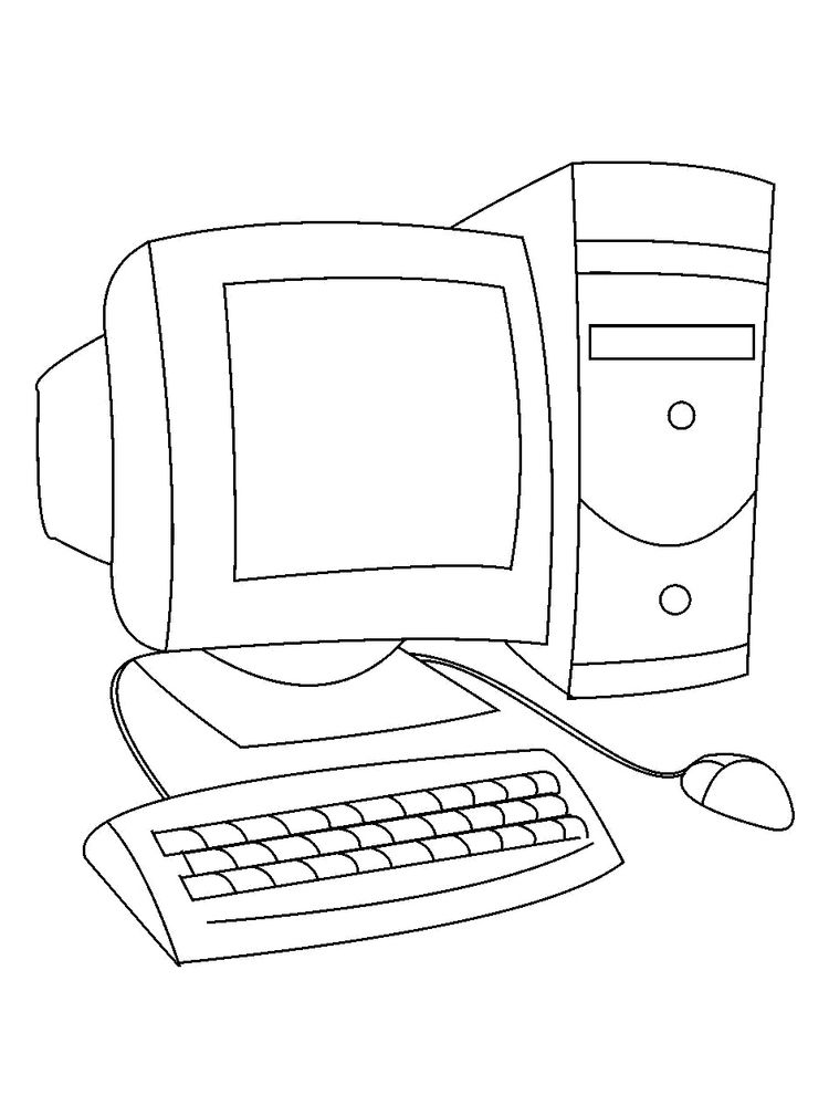 computer keyboard coloring pages