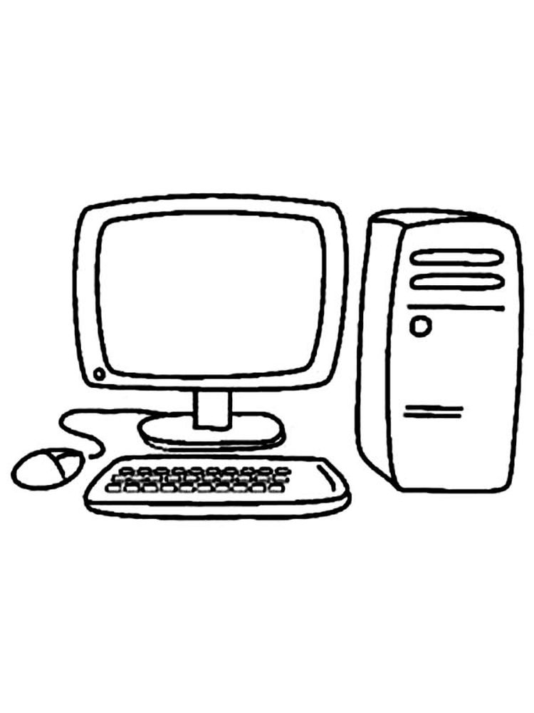 computer lab coloring pages