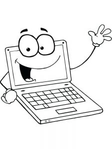 computer laptop coloring pages
