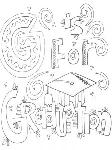 congratulations graduation coloring pages