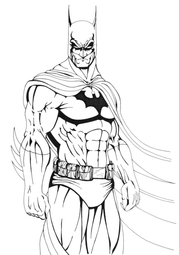 cool batman coloring pages