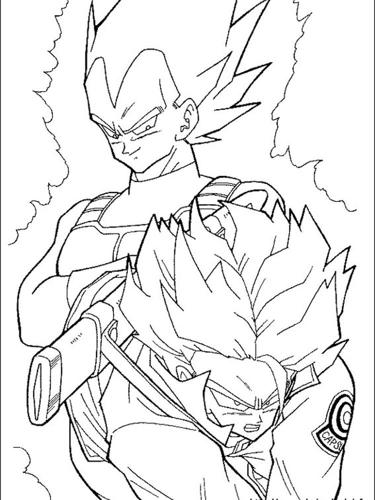 cool dragon ball z coloring pages