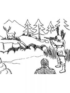 coon hunting coloring pages to print