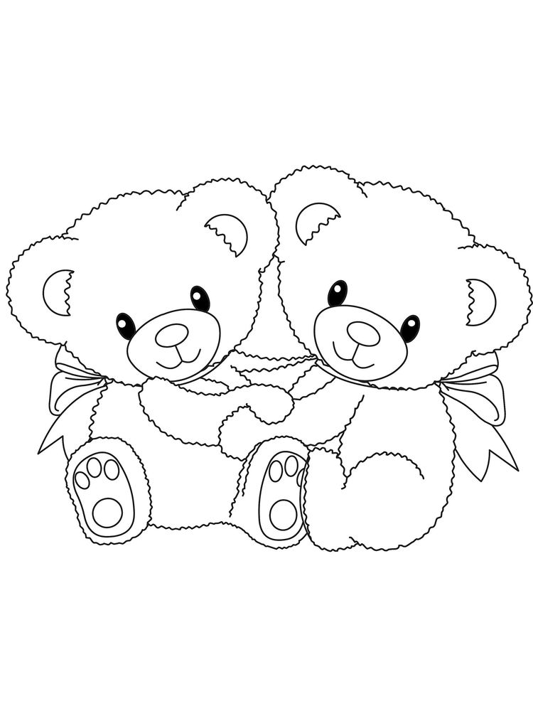 couple bear doll coloring pages