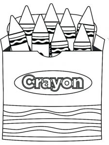crayon coloring pages to print