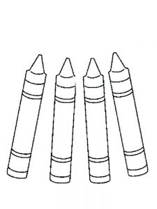 crayons coloring pages
