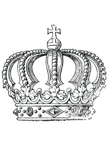 crown coloring pages for adult