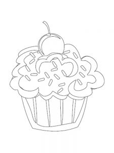 cupcake coloring pages pdf
